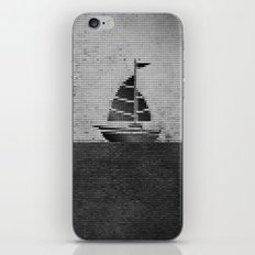 Ship puzzle bw iPhone & iPod Skin