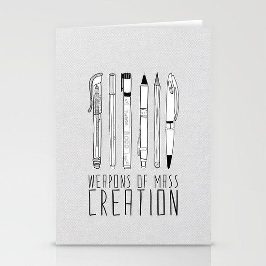 weapons of mass creation Stationery Card