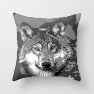 Wolf20151104 Throw Pillow