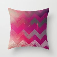 PINK Chevron Throw Pillow