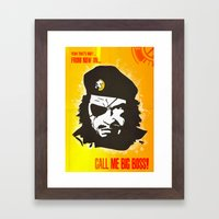 Call Me Big Boss Framed Art Print