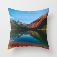 Somewhere in the Rockies Throw Pillow
