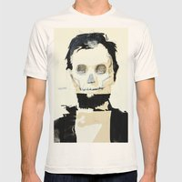 Abraham Lincoln (skull) Mens Fitted Tee Natural SMALL