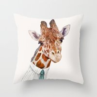 Mr Giraffe Throw Pillow