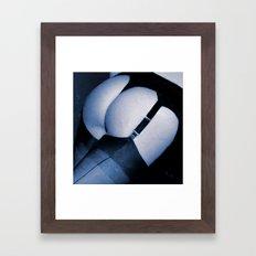 Flirting in the Shadows Framed Art Print