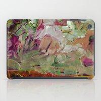 Abstract Purple Green Sk… iPad Case