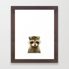 Little Raccoon Framed Art Print