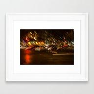 Lumières De La Nuit Par… Framed Art Print
