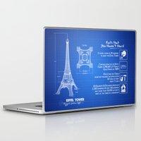 eiffel Laptop & iPad Skins featuring  Eiffel Tower by mewdew
