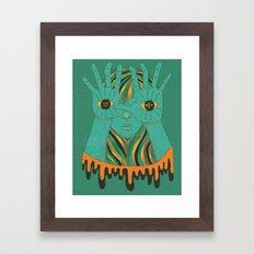 eyes of gypsy  Framed Art Print