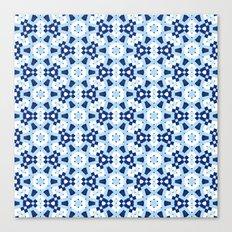 Blue Geometry Watercolor Mosaic Seamless Pattern Canvas Print