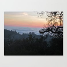 Fog-Filled Valley at Sunset Canvas Print