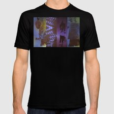 DropArt collage Mens Fitted Tee SMALL Black