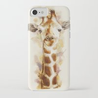 giraffe iPhone & iPod Cases featuring giraffe by beart24