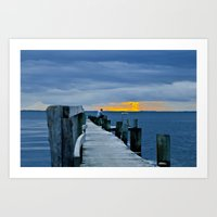 Scandic sunset Art Print