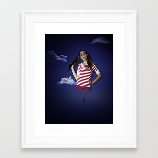 Late night fairy tale dreams Framed Art Print