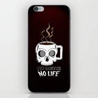 No Coffee No Life iPhone & iPod Skin