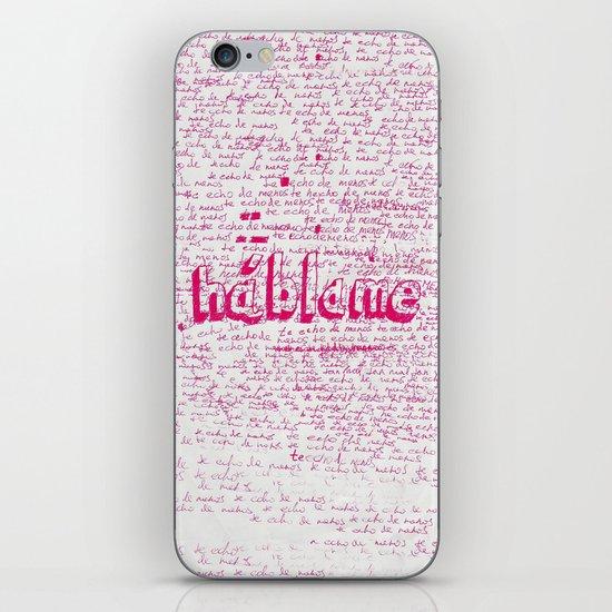 I Miss You. Talk to Me. iPhone & iPod Skin
