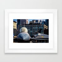 On The Deck Of The Intre… Framed Art Print