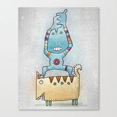 Dancing on Fat Cat Canvas Print