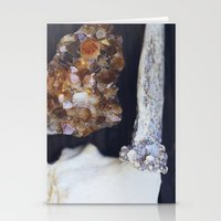 Citrine and Bone Stationery Cards