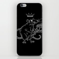 Rat King (white) iPhone & iPod Skin