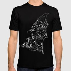 Leather Wings Black SMALL Mens Fitted Tee