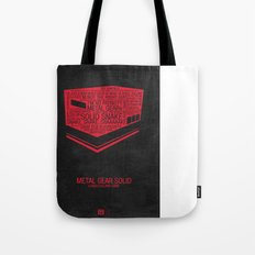 Metal Gear Solid Typography Tote Bag