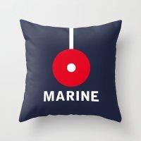 Marine Navy Majesty Ship Throw Pillow
