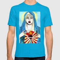 Goddess courtney love Mens Fitted Tee Teal SMALL