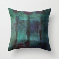 Abstract - Silhouette Throw Pillow