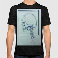 Skull Portrait Mens Fitted Tee Tri-Black SMALL