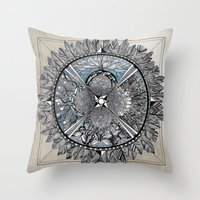 the south, she waits Throw Pillow
