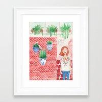 princesa mexicana queriendose quedar quieta Framed Art Print