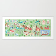 westborough map Art Print