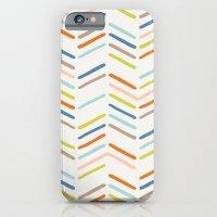 Mixed Herringbone - In B… iPhone 6 Slim Case