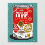 Canvas Print featuring Canned Life by Steve Cutts