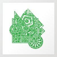 little green men Art Print