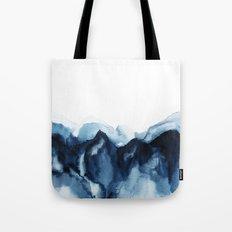 Abstract Indigo Mountains Tote Bag