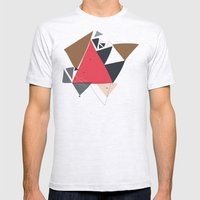 Exploding Triangles//Two Mens Fitted Tee Ash Grey SMALL