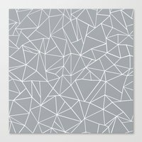 Abstraction Outline Grey Canvas Print
