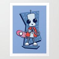 Ned The Time Traveller (… Art Print