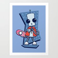 Ned The Time Traveller (… Art Print