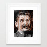 STALIN Framed Art Print