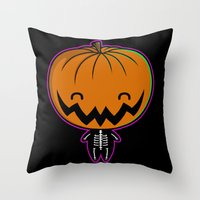 Cutie Pumpkin Pie Throw Pillow