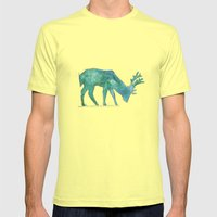 Prongs Mens Fitted Tee Lemon SMALL