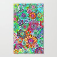 Rivalry of Flowers - multicolor Canvas Print
