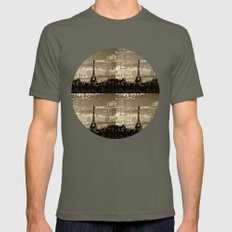 The Eiffel Tower Behind … Mens Fitted Tee Lieutenant SMALL