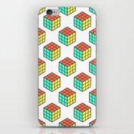 Rubiks Cube Pattern iPhone & iPod Skin