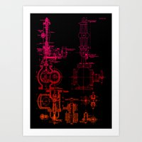 Steam pipe Art Print